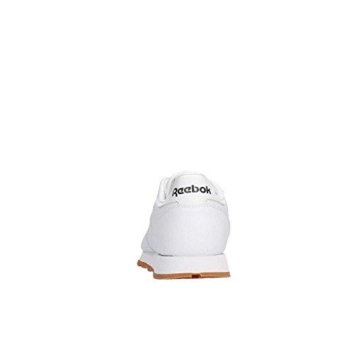 Leather Reebok Scarpe da Weiß Ginnastica Classic Bambino 55wrf