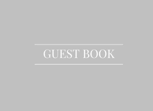 Download Gray Guest Book: Airbnb, Guest House, Hotel, Bed and Breakfast, Lake House, Cabin pdf epub
