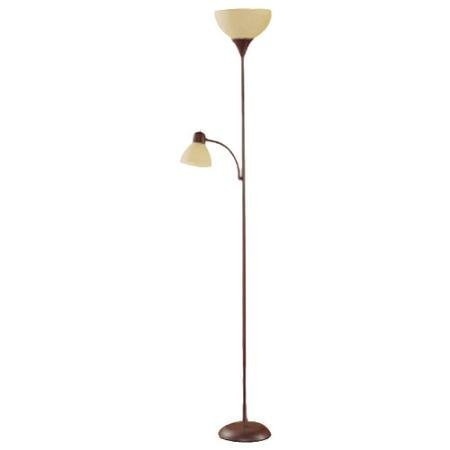 Brown Floor Lamp With Reading Light   72u0026quot;