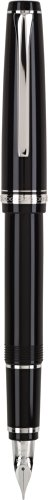Pilot Namiki Falcon Collection Fountain Pen, Black with Rhodium Accents, Soft Extra Fine Nib (60740) (All Our Yesterdays Parker)