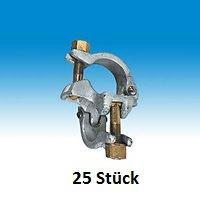 Ger/üstkupplung Normalkupplung Stahl SW 22 f/ür Verbindung 48//48mm mit Pr/üfzeichen 25 Stk