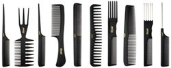Professional Styling Comb (Annie Professional Comb Set 10Ct Black)