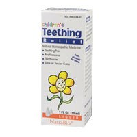 Natra Bio Co Childrens Teething Liquid, 1 Ounce -- 6 per cas