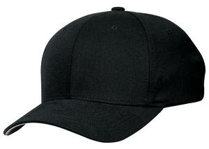 Port Authority Twill Cap - Port Authority Men's Flexfit Cap. C865 L/XL Black