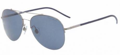 7279fa33b3d8 Image Unavailable. Image not available for. Colour  Giorgio Armani AR 6002  3012 80 Dark Gunmetal Blue Sunglasses