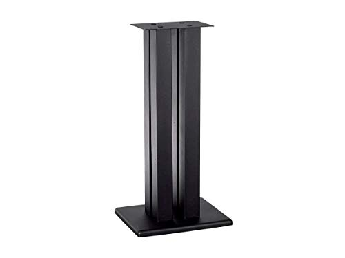 Monolith 32 Inch Speaker Stand (Each) - Black | Supports 100 lbs, Adjustable Spikes, Compatible with Bose, Polk, Sony, Yamaha, Pioneer and Others