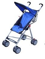 Single Umbrella Stroller with Tilt Back Seat Blue