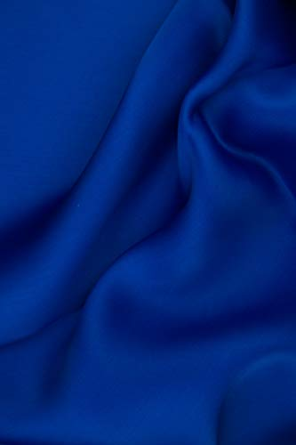 (Dazzling Blue Silk Satin Face Organza Fabric)