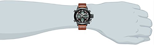 Mens-Sports-Watches-Men-Military-Waterproof-Big-Face-Analogue-Digital-Brown-Leather-Band-Wrist-Watch