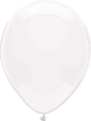 12 Inch Latex Balloons Crystal - PartyMate 72129 Made in the USA Royal Rich Color 12-Inch Latex Balloons, 15-Count, Crystal Clear