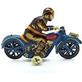 Retro Wind Up I-922 Motorcycle with Driver Clockwork Tin Toy Collectible Gifts
