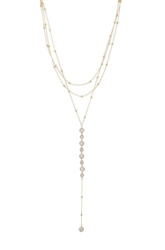 (Ettika Bali Goldtone Dreams Layered Three Row Necklace)
