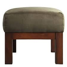 Mission-style Oak and Olive Ottoman ()