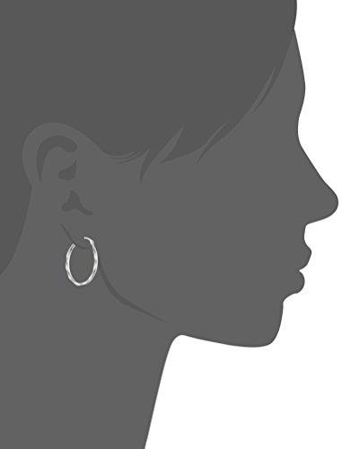 14k Gold Oval Twist Hoop Earrings
