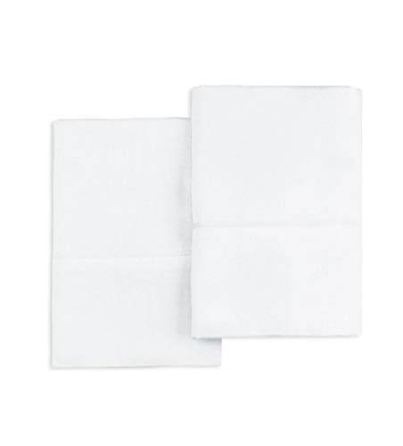 """Pizuna 400 Thread Count 100% Cotton Pillow Cases, White King Size Pillowcases Set of 2, Long Staple Cotton, Sateen Weave with Stylish 4"""" Hem (White King Pillow Pair)"""