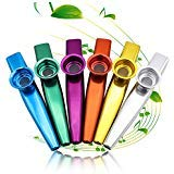 Metal Kazoo Musical Instruments 6 Different Colors Aluminum Alloy Metal Kazoo Kids Set A Good Companion for Guitar, Ukulele, Violin, Piano Keyboard Great Christmas Gift for Kids Music Lovers