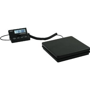 Elite Package (American Weigh Scales SE-50 Ship Elite Black Low Profile Shipping Scale with Backlit LCD and 110-Pound Capacity)
