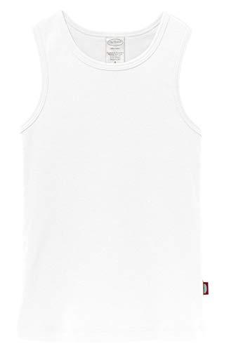 City Threads Little Girls' Cotton Racerback Racer Back Razer Back Tank Top T-Shirt Tee Tshirt Summer Dance Play School Sports Sensitive Skin SPD Sensory Sensitive Clothing, White, 6 -