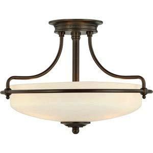 Quoizel GF1717PN Griffin Semi-Flush Ceiling Lighting, 3-Light, 300 Watts, Palladian Bronze (12