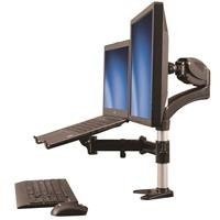 Single-Monitor Arm With Laptop Stand - ARMUNONB