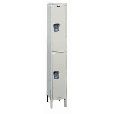 Maintenance-Free Quiet Stock Lockers - Double Tier - 1 Section (Unassembled) (Lockers Quiet Tier Double)