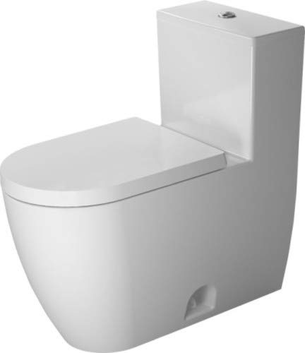Piece Standing Toilet Floor One - Duravit 2173010001 - One-piece toilet ME by STARCK white Dual flush, elongated, siphon jet