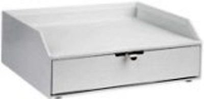 Martha Stewart Home Office with Avery Stack+fit Shagreen Drawer with Inbox, (Mail Inbox White)