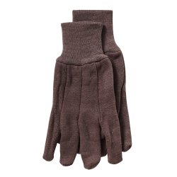 - Men's Brown Jersey Gloves, Premium Weight Cotton, with Knit Wrist, 9 oz Weight, Sold by the Dozen Tools Equipment Hand Tools