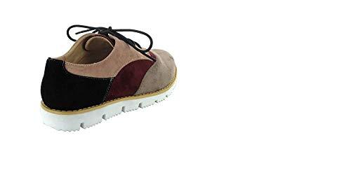 tabacco Menbur bordeau Lacets Ville De Pour À Femme Taupe Multicolore Chaussures xUzqS