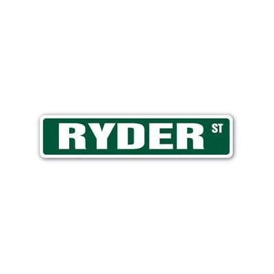 RYDER Street Sticker Sign name childrens room door gift kid child boy girl wall entry - Sticker Graphic Personalized Custom Sticker Graphic: Automotive