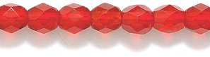 Round Red Glass Beads (Preciosa Czech 4-mm Fire-Polished Glass Bead, Faceted Round, Transparent Dark Ruby, 300/pack)