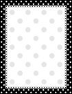 Barker Creek 8.5 x 11 in. Dot Design Decorative Computer Paper44; 50 Sheets Of44; Black And White44; Pack - 50