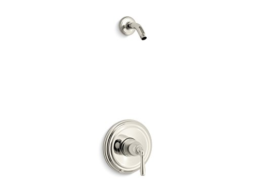KOHLER TLS396-4-SN Devonshire(R) Rite-Temp(R) Shower Valve Trim with Lever Handle, Less Showerhead (R) (Devonshire Showerhead Shower Accessory)