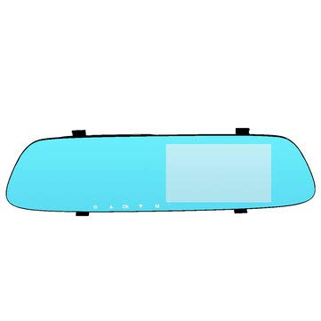 5 Inch 1080P HD Car DVR Rearview Mirror Dash Camera Dual Lens Recorder Monitor 170 - Car DVRs Car DVR Camera -