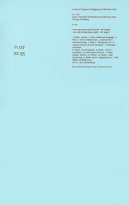 Download Seven Controlled Vocabularies and Obituary 2004 the Joy of Cooking( Airport Novel Musical Poem Painting Film Photo Hallucination Landscape)[7 CONTROLLED VOCABULARIES & OB][Paperback] ebook