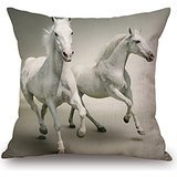 [Horse Throw Cushion Covers 20 X 20 Inches / 50 By 50 Cm For Dining Room,teens Girls,boy Friend,son,gf,girls With Double] (Toga Costumes Patterns)