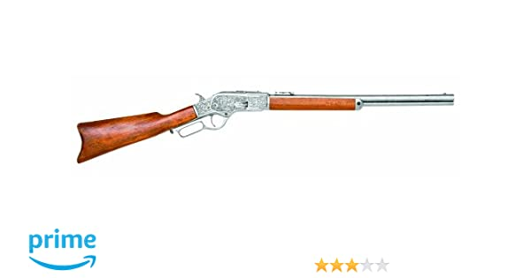 Denix Model 1873 Lever-Action Repeating Rifle, Pewter - Non-Firing Replica