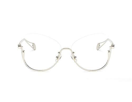 aire para marco sol al medio UV400 gafas Silver de Unisex viajar gafas libre Huyizhi gafas decoración protección Guay 16ZnvqwZtg