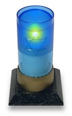 Electric Yahrzeit Memorial Candle with Star of David (Saphire)