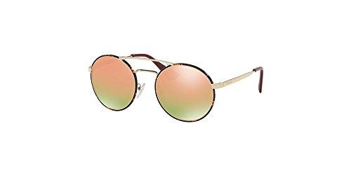Prada PR51SS 2AU5L2 Sunglasses, Pale Gold/Dark Havana, - Prada Gold Sunglasses