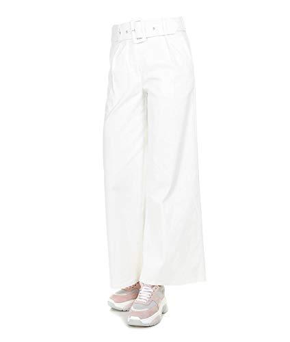 b9cbafcc3e36 Silvian Heach Women s Pgp19036pamilklight White Cotton Pants