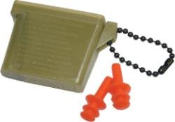 Genuine Military Ear Plugs with Case , Large - BLUE