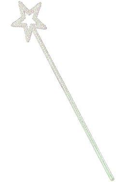 Dressing Childrens Uk Outfits Up (White Glitter Plastic Star)