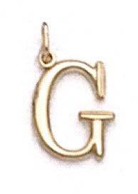 "Pendentif initiale G 14 carats 11/16 ""- JewelryWeb"