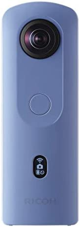 Ricoh Theta SC2 BLUE 360°Camera 4K Video with Image Stabilization High Image Quality High-Speed Data Transfer Beautiful Night View Shooting with Low Noise Thin and Lightweight For iPhone, Android