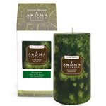 Aroma Naturals Holiday Candle (Aroma Naturals Holiday Candles Fresh Forest (Forest Green) Pillars 2 3/4
