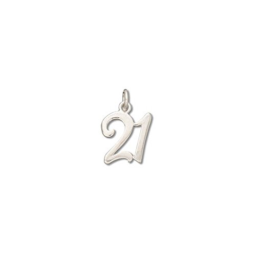 Sterling Silver Number #21 Birthday or Anniversary Charm Item #53031