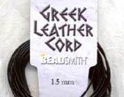 1.5mm Greek Leather Cording Black