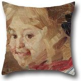 16 X 16 Inches / 40 By 40 Cm Oil Painting Vidosava KovaÄević - Head Of A Girl Cushion Cases,2 Sides Is Fit For