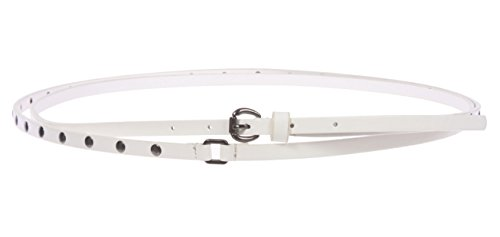 Studded Double Wrap Belt Size: S/P - 33 Color: White (Skinny Double Wrap)
